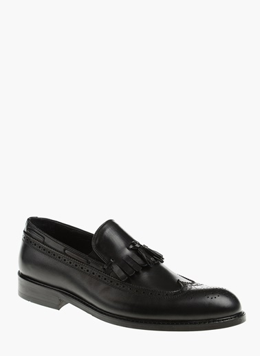 Divarese Deri Loafer Ayakkabı Siyah